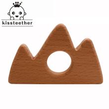 Organic Baby Teething Product Beech Wooden Mountain Teether