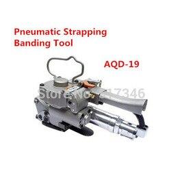 Pneumatyczne narzędzie do wiązania taśmą z tworzywa sztucznego PET/PP AQD 19 width13 19mm maszyna pakująca karton Firction w Centrum obróbki od Narzędzia na
