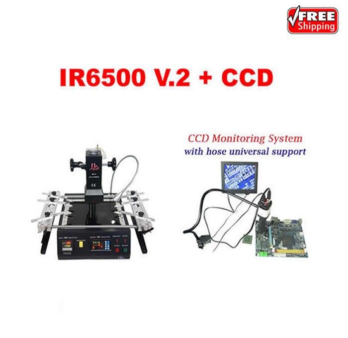 LY IR6500 V.2 infrarouge BGA station de reprise plus grand préchauffer zone + Cobra caméra CCD système de supervision avec 8 ''moniteur