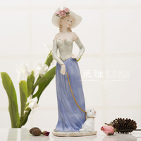 Ceramic Beauty Girl Lady Figurine Home Decor Crafts Room Decoration Handicraft Ornament Porcelain Figurine Vintage Statue