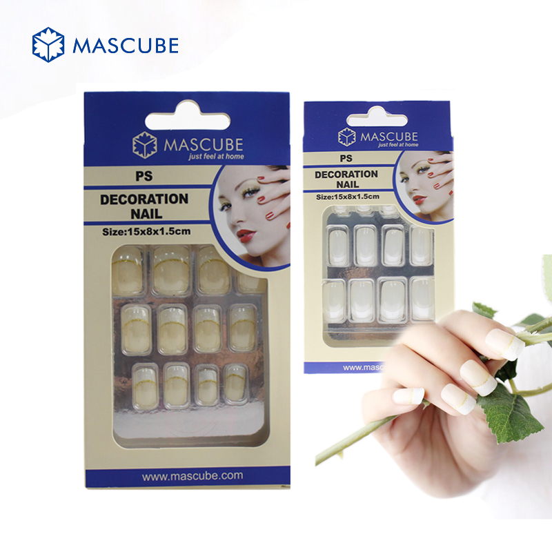 Mascube nail tips acrylic art false artificial nails for Acrylic nails salon prices