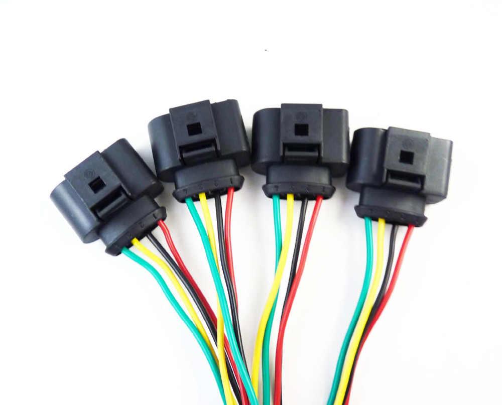 ISANCE Ignition Coil Connector Plug Wires For Audi VW Beetle CC Eos GTI  Golf Jetta Passat Rabbit Tiguan OE# 1J0998724 1J0973724