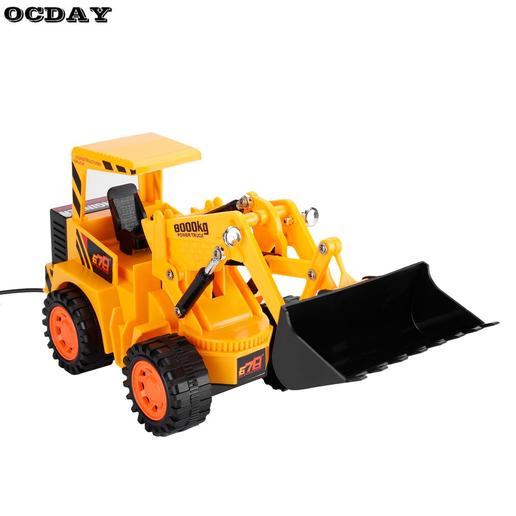 RC Car 5CH LED Forklift Truck Charging RTR Construction Vehicle Cars For Kids Toy Engineering Car EU Plug Remote Control Truck
