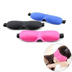 3D маска для глаз, губка, чехол с повязкой на глаза, для путешествий, для сна, для отдыха, тени для блиндера, мягкая, для путешествий, для сна, дл...