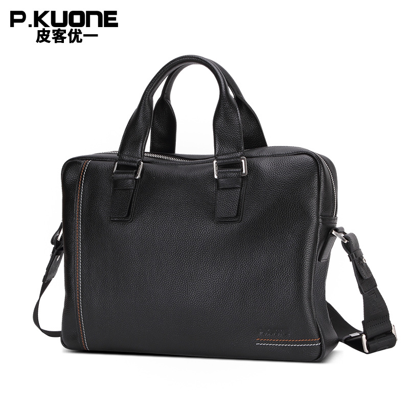 New Arrival High Quality Casual Business Men's Genuine Leather Briefcase Handbag Casual Bag Shoulder Messenger Bag 14