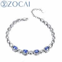 ZOCAI БРЕНД Зодиак голубой настроение 18 К White Gold 2.0 ct Sapphire 0.15 ct бриллиантовый браслет Fine Jewelry 18 К цвета розового золота доступна s00514