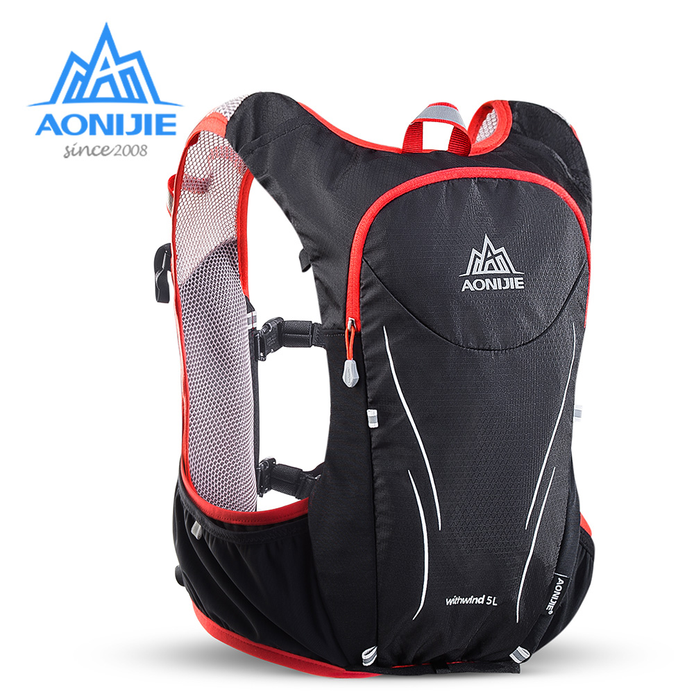AONIJIE C928 5L Hydration Backpack Rucksack Bag Vest Harness For 2L Water Bladder Hiking Camping Running Marathon Race Sports aonijie outdoor water bag 1 5l 2l 3l for camping hiking climbing cycling running foldable peva sport hydration bladder