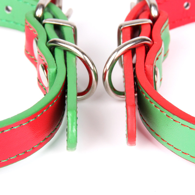 Quality Leather Pet Dog Collar With Bell  Cute Bow Christmas Small Dog Collars Cat Necklace Leash for Medium Dog Puppy Collar  3