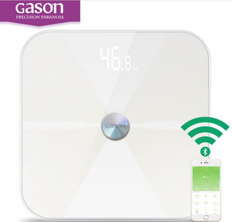 Prime D'origine GASON T6 smart balance numérique échelle soutien Bluetooth APP Android ou IOS dans Salle de bains Échelles de Maison & Jardin