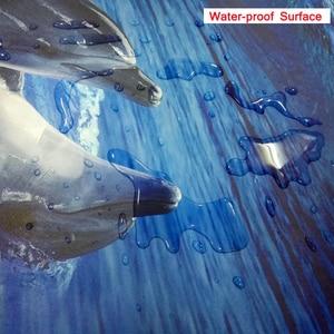 Image 5 - Custom Boden Tapete 3D Stereoskopischen Ozean Wellen Wandbild Wohnzimmer Bad PVC Selbst adhesive Wasserdichte Boden Tapete Rolle