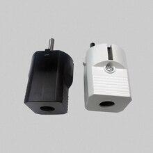 16A 250V EU AC Power Adapter Socket Connector Cable Electrical Plug White Black Male Converter Adaptor Detachable Plug цена