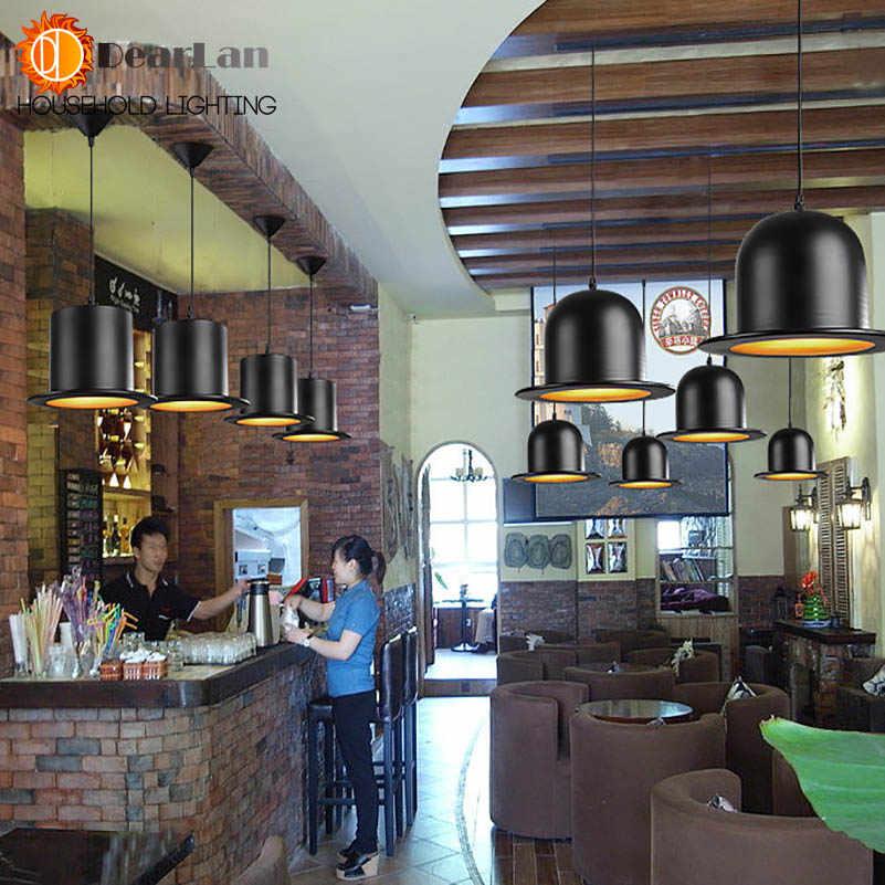 Современный привлекательный кулон лампы красиво смотрятся подвесные светильники Англия шляпа лампа Coffeeshop бар Спальня огни E27 комнатное освещение (DA-50)