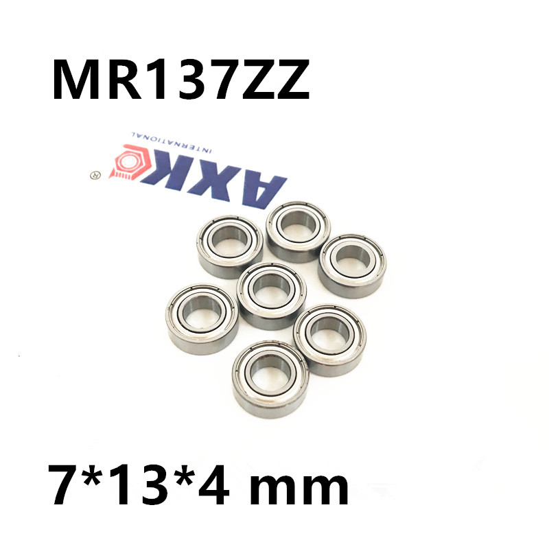 MR137ZZ Bearing ABEC-1  7*13*4 mm Miniature MR137 ZZ Ball Bearings L1370ZZ MR137ZZ L-1370ZZ  7*13*4 mm mr148zz bearing abec 1 10pcs 8 14 4 mm miniature mr148 2z ball bearings mr148 zz l 1480zz mr148z