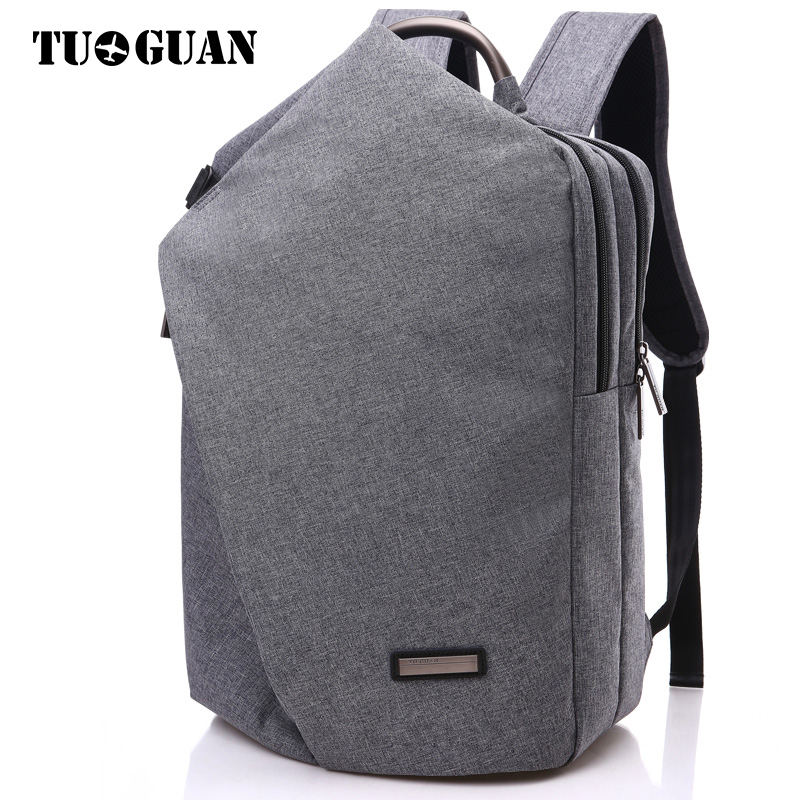 TUGUAN Men/Women Backpack 15.6 Inches Laptop Bag Schoolbag Business Casual Back Pack College Student Bags Canvas Bagpack for Boy casual canvas satchel men sling bag