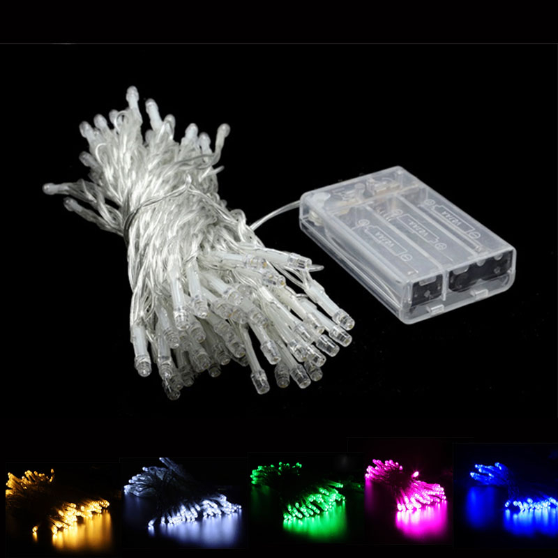 1M 2M 5M Fairy LED String Light Battery Operated Holiday Chain Garland Home Christmas Wedding Party Indoor Outdoor Decoration