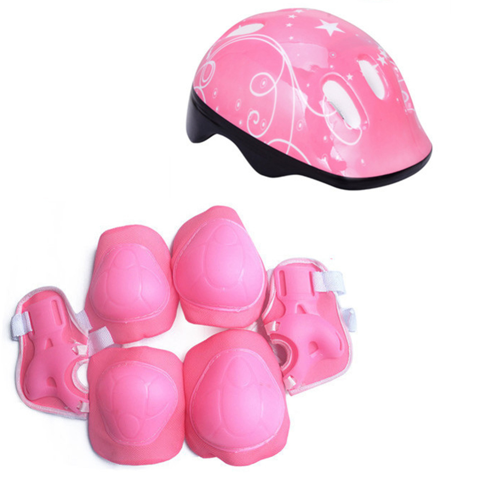 7 Pcs Kid Child Roller Skating Bike Helmet Knee Wrist Guard Elbow Pad Set for Bicycle Helmet Protection Safety Guard Cycling Pad