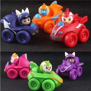 Image 5 - 6 ピース/セットトップ翼アクションフィギュアおもちゃ車フィギュア迅速、ロッド、ペニー、ブロディおもちゃコレクション人形 7 センチメートルキッズギフト