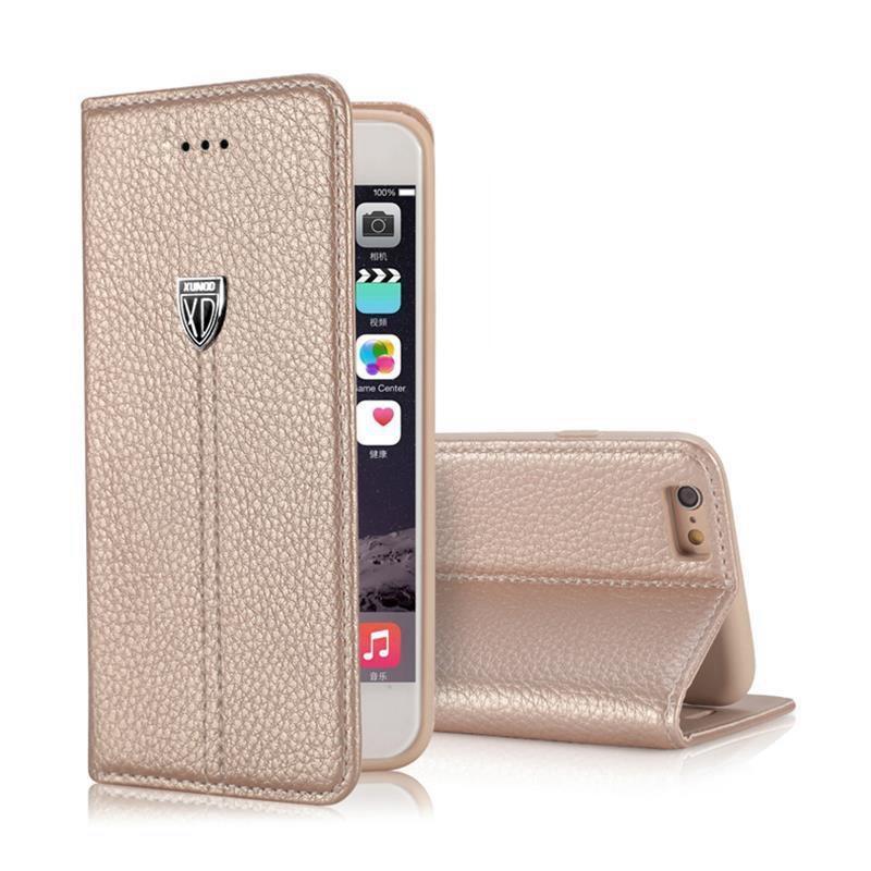 imágenes para Para el iphone 5S Caso Retro Del Tirón Del Soporte de la Carpeta de Cuero de Lujo de La Vendimia cubierta de la Caja de Accesorios para el iphone 7 6 6 s plus iphone 5 sí