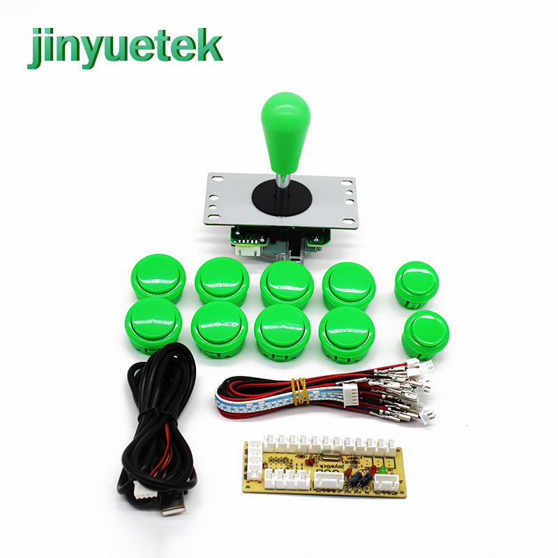 New PS3 Arcade Joystick DIY Kit Zero Delay Game USB Encoder PC Joystick  Computer Game+8 Arcade