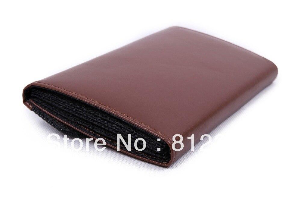 Brown Receipt Holder Organizer Wallet Cash Case Business Card Holder ...