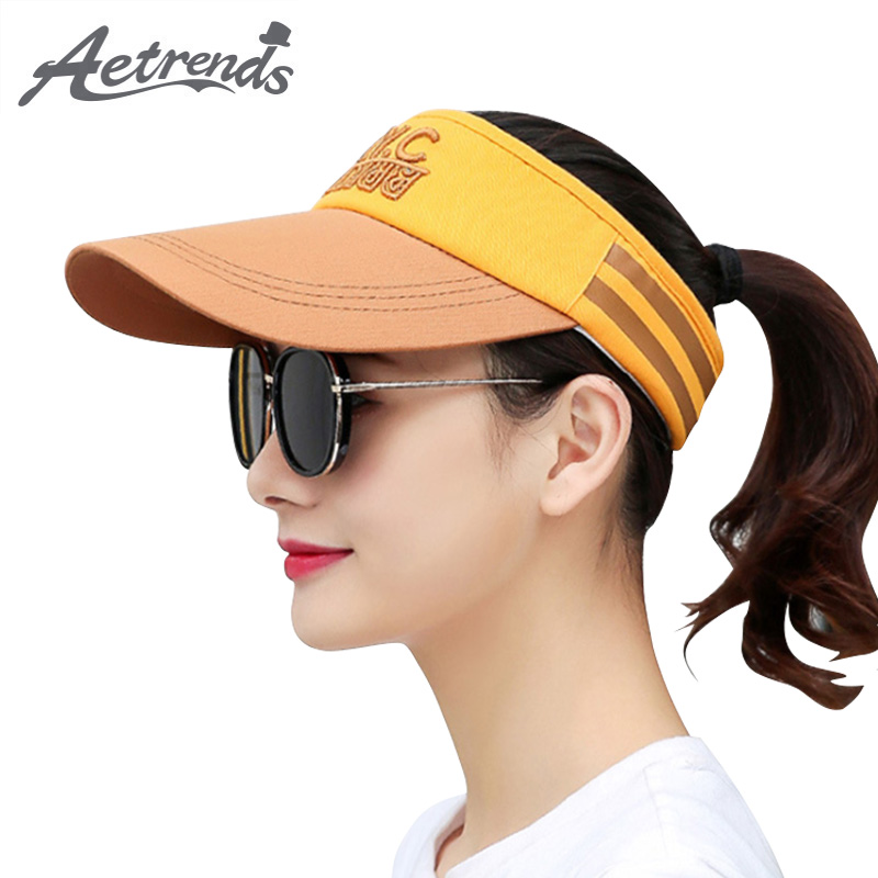 [AETRENDS] 2018 New Summer UV Protection Baseball Cap Women Hat Outdoor Sport Empty Top Caps Z-6440
