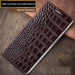 Image 2 - Wangcangli marca de telefone caso genuíno couro de crocodilo textura Lisa 7X handmade caixa do telefone caixa do telefone Para Huawei Honra