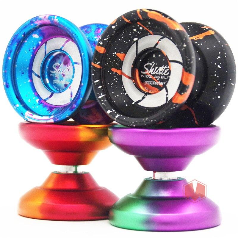 Nuevo llega YYF obturador yoyo amplia versión yoyo 1A metal yoyo profesional regalo de Navidad para el niño