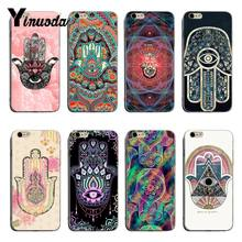 Yinuoda Fatima Hand Hamsa Printing Drawing protection phone Cover Case For iPhone XSMax X XS XR 7 7Plus 8 8plus 6 6s 6plus(China)