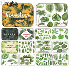 Hongbo Tropical Leaves Plant Printed Anti-slip Floor Mat Outdoor Rugs Front Door Mats Kitchen for Living Room