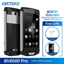 Blackview BV8000 Pro Smartphone IP68 Waterproof MT6757 Octa Core 6G RAM 64G ROM 5.0 Inch 1920*1080 16.0MP 4G Android 7.0 Phone(China)