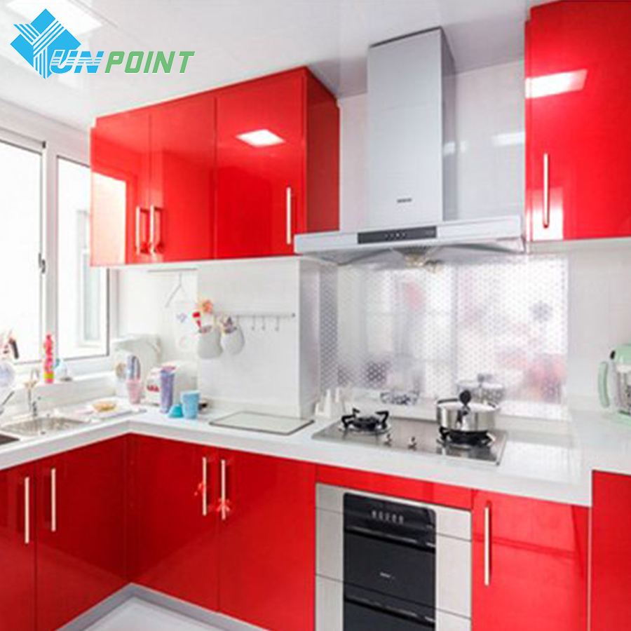 3m*0.6m Glossy Red Paint Furniture Stickers Removable Vinyl DIY Wallpaper Art PVC Decals Kitchen Cabinet Wall Sticker Home Decor wallpaper removable art vinyl quote diy wall sticker decal mural home room decor 350011
