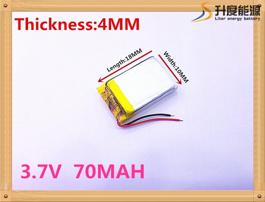 best battery brand 1PCS 3.7V lithium Tablet polymer battery 381018 361020 361018 401018 70mAh Bluetooth Battery