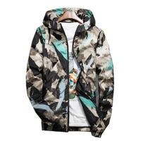 M 5XL Spring Autumn Bomber Jacket Men Camouflage Print Hooded Thin Jackets Men Wind Breaker Jacket