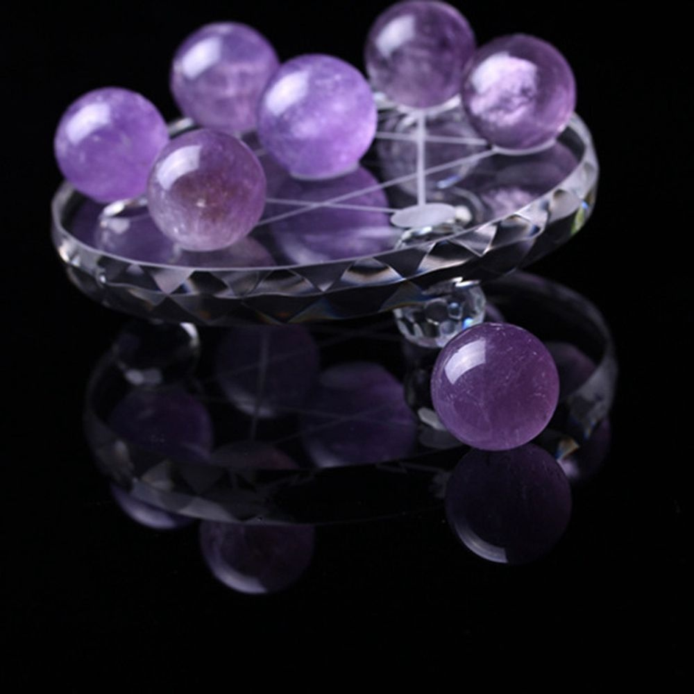 Home Decor Home & Garden Cooperative 20-25mm Asian Rare Natural Crystal Fluorite Magic Ball Pink Amethyst Quartz Stone Sphere Healing Gemstone Home Office Decoration