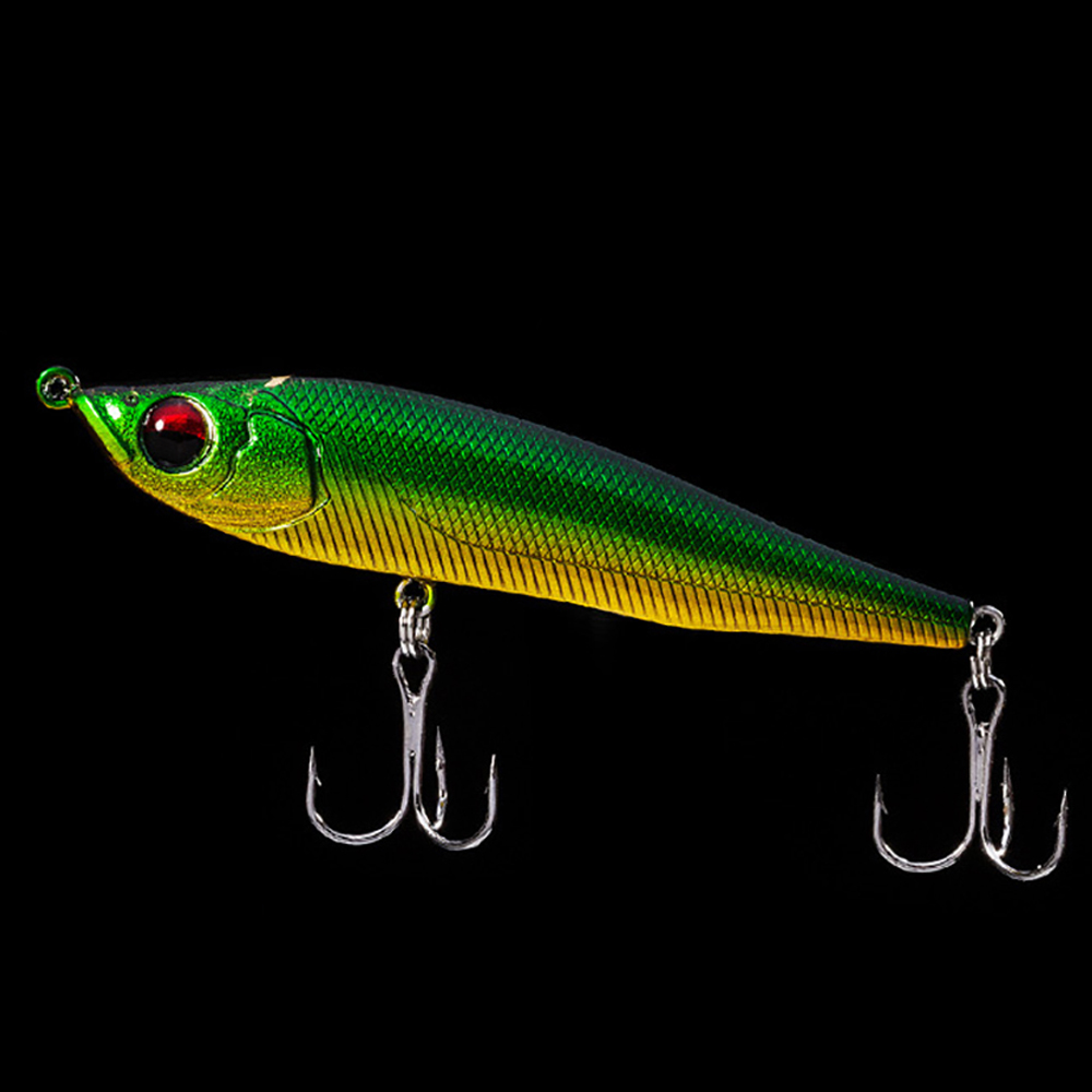Hot new Fishing lure bait Pencil hard baits sink 3D eyes lifelike minnow crank pesca japan Wobbler Tackle sea bass pike 95mm 20g 10pcs set 7g 8g fishing minnow lure reflective 3d eyes hard baits hooks for wobblers pike winter sea fishing iscas minnow