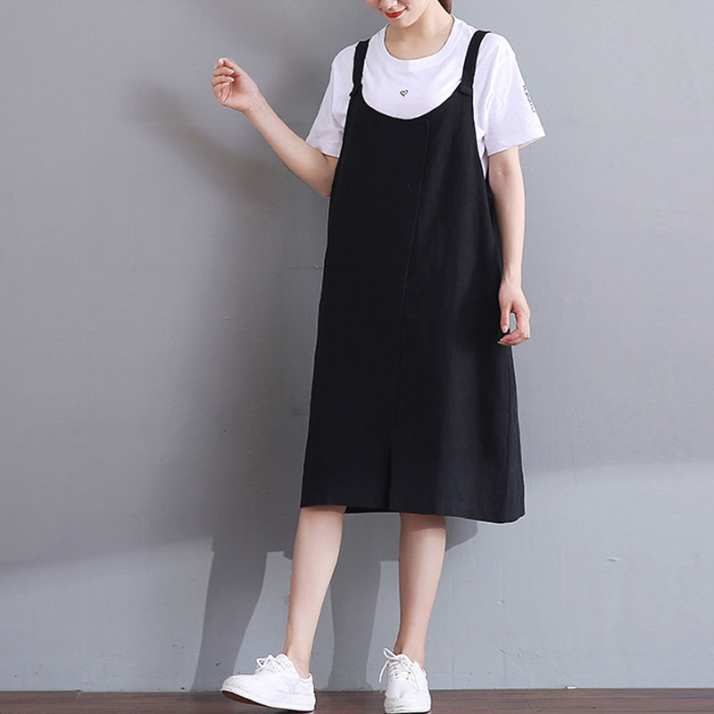 2018 Summer ZANZEA Women Spaghetti Straps Cotton Linen Sleeveless Casual Baggy Work Dungarees Dress Pockets Loose Party Vestido