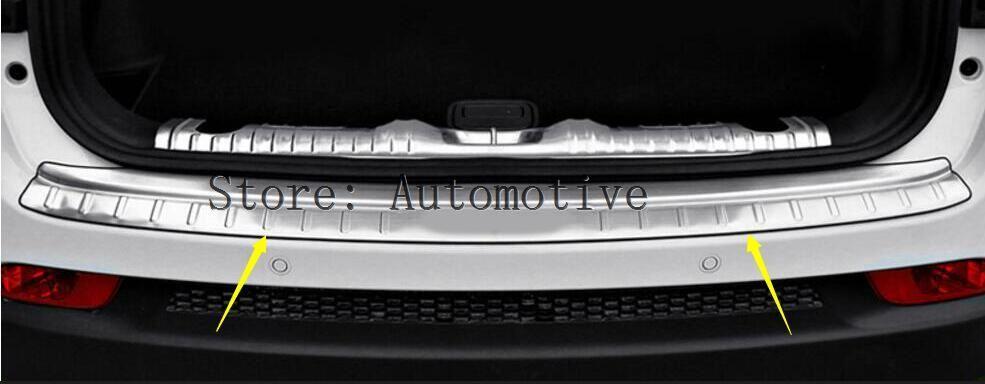 Couvercle de plaque de pare-chocs arrière en acier inoxydable en acier inoxydable 1 pièces pour Jeep boussole deuxième génération 2017 2018