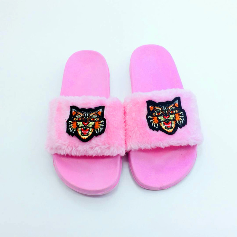 AoXunLong Neue Pelz Slides Flip-Flops Frauen Hausschuhe Bajan Terlik - Damenschuhe - Foto 4