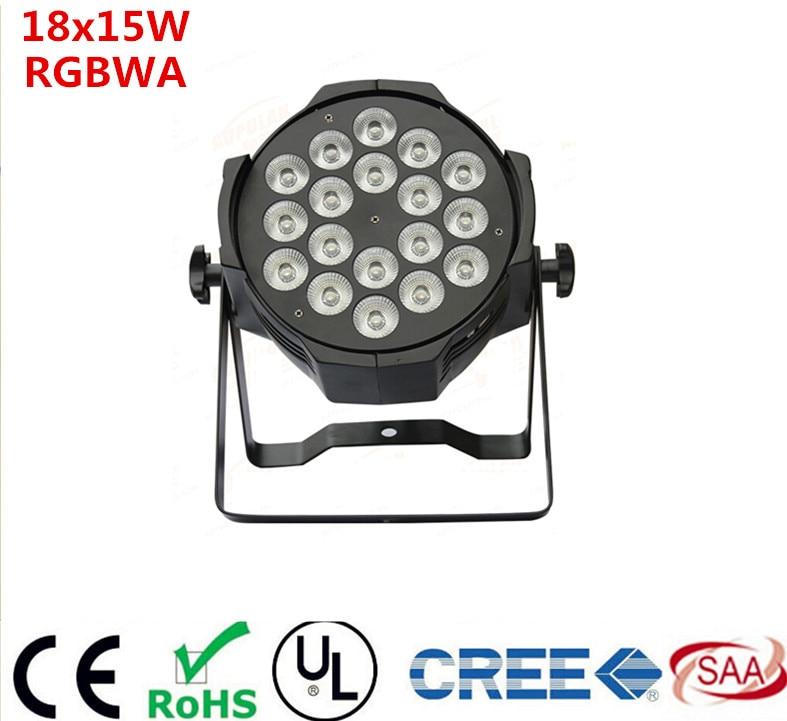 High Brightness 18x15W Led Par Light RGBWA 5in1 DMX Professional Lighting Indoor Stage Lights DJ Equipment Par Led