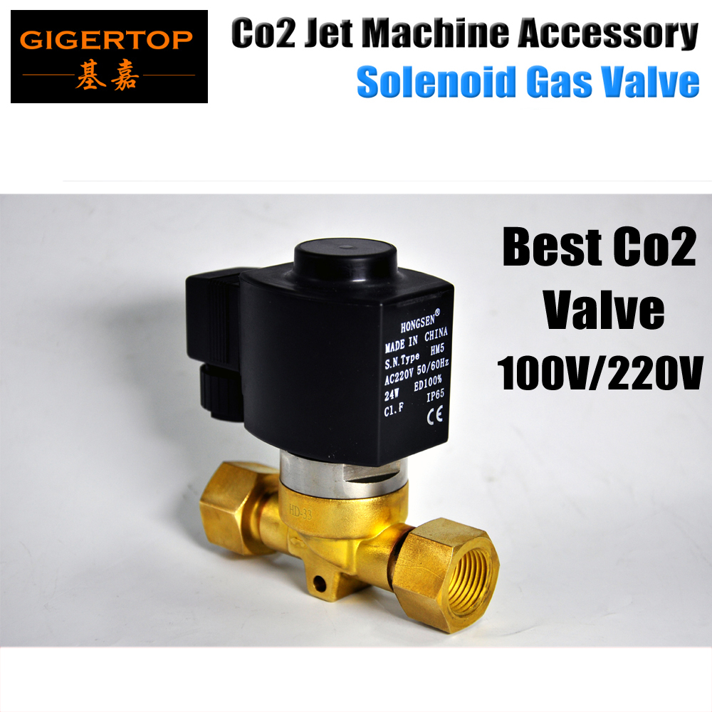Free Shipping CO2 Machine Electric Valve American DJ Co2 Valve Spare Part Led Stage Light Co2 Machine Jet Stage Light 100V/220V tiptop stage light co2 jet machine solenoid valve with brass fitting suit for co2 club cannon 100v 240v carbon dioxide generator
