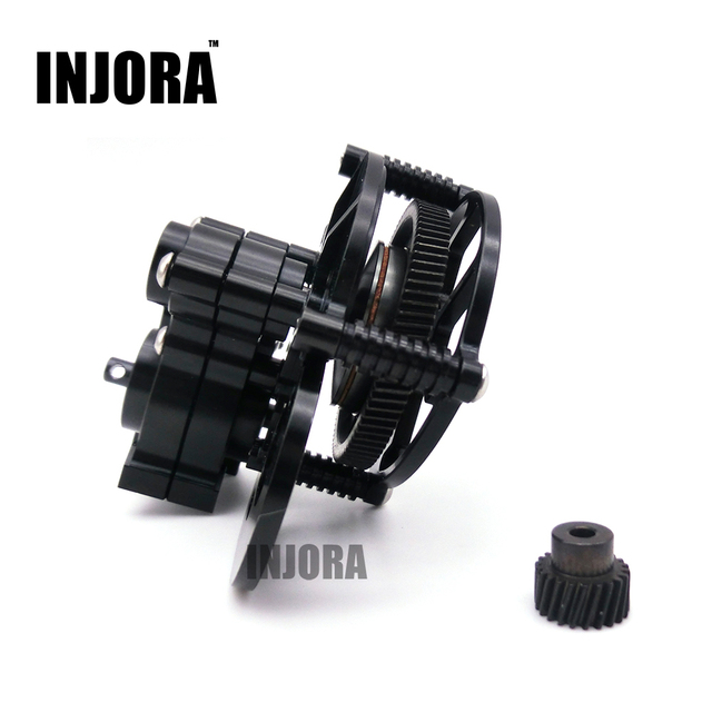 1:10 RC Crawler SCX10 Black All Metal Transmission / Center Gearbox for Axial SCX10 Gear Box Parts