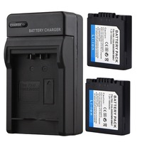 2x 1500mAh CGA S006 Li Ion Battery CGR S006E Camera Battery For Panasonic Lumix DMC FZ7