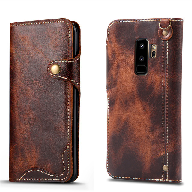samsung galaxy s9 plus leather flip case