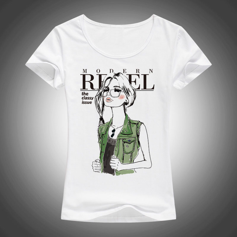2017 Summer Fashionable Girl Impreso Camiseta Summer Women Cool - Ropa de mujer