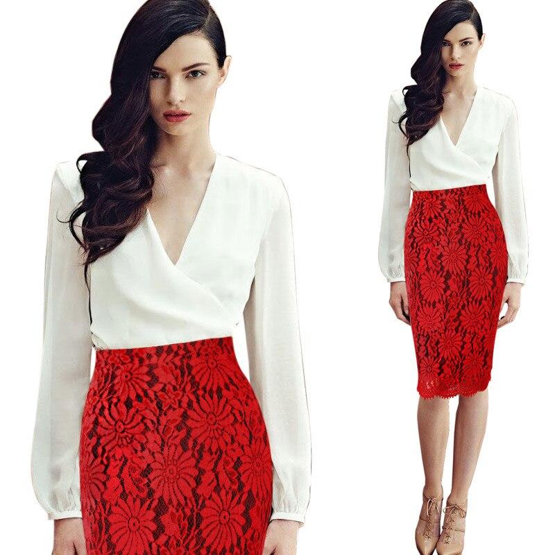 Feibushi mujeres Faldas verano vintage moda impreso lápiz Falda midi mujeres  Encaje elástico alta cintura señoras Faldas 6151c4c59837