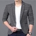 Повседневная Пиджак Моды для Мужчин Бренд Куртки Костюмы Мужской Пиджак Пальто Кнопки Мужчины пиджак