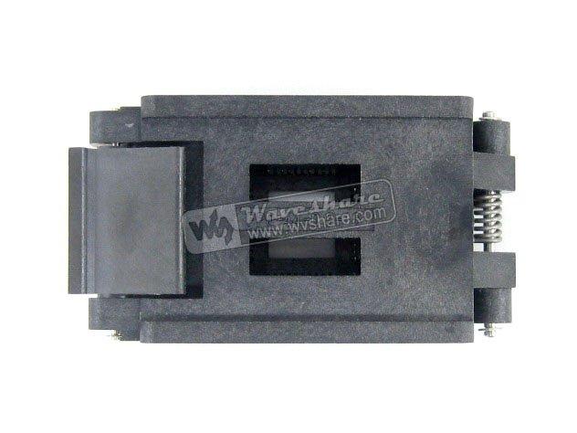 Parts QFP44 TQFP44 LQFP44 PQFP44 FPQ-44-0.8-16A Enplas QFP IC Test Burn-In Socket Adapter modules original brand new enplas qfp44 fpq 44 0 8 19 enplas ic test burn in socket block adapter 0 8mm pitch tqfp44 fqfp44 pqfp
