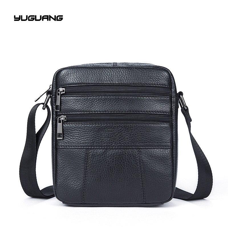 Man satchels genuine font b leather b font Retro bag messenger bags men s crossbody bag
