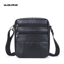 Man satchels genuine leather Retro bag messenger bags men s crossbody bag small shoulder bags Pocket