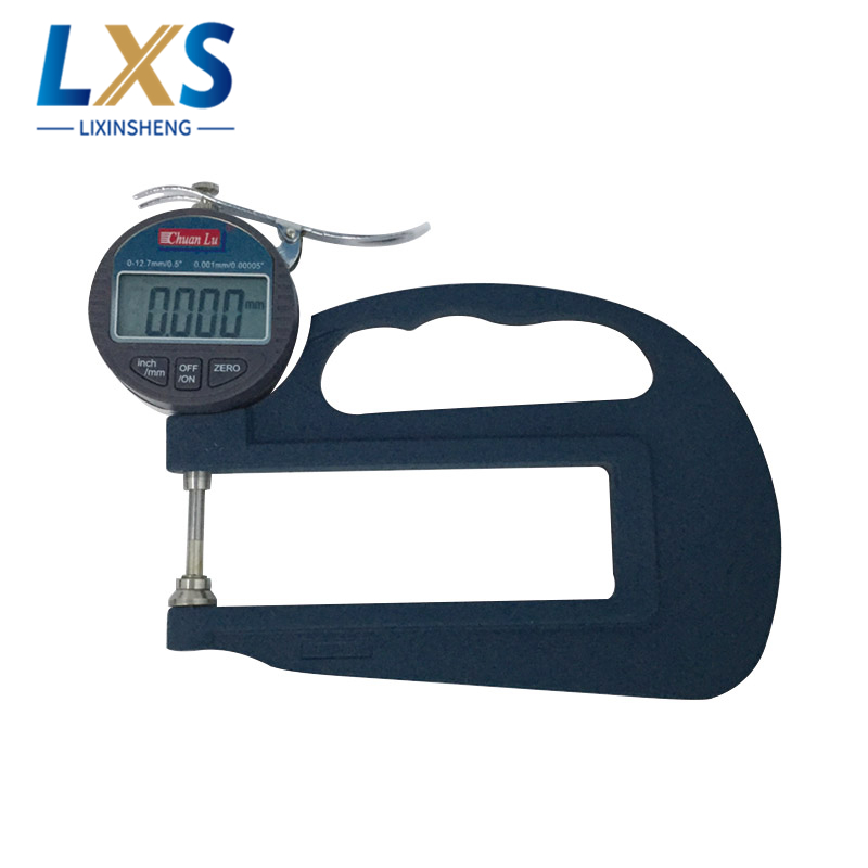 Stainless Steel Digital Micron Thickness Gauge 0.01mm Plastic Film Digital Thickness Gauge